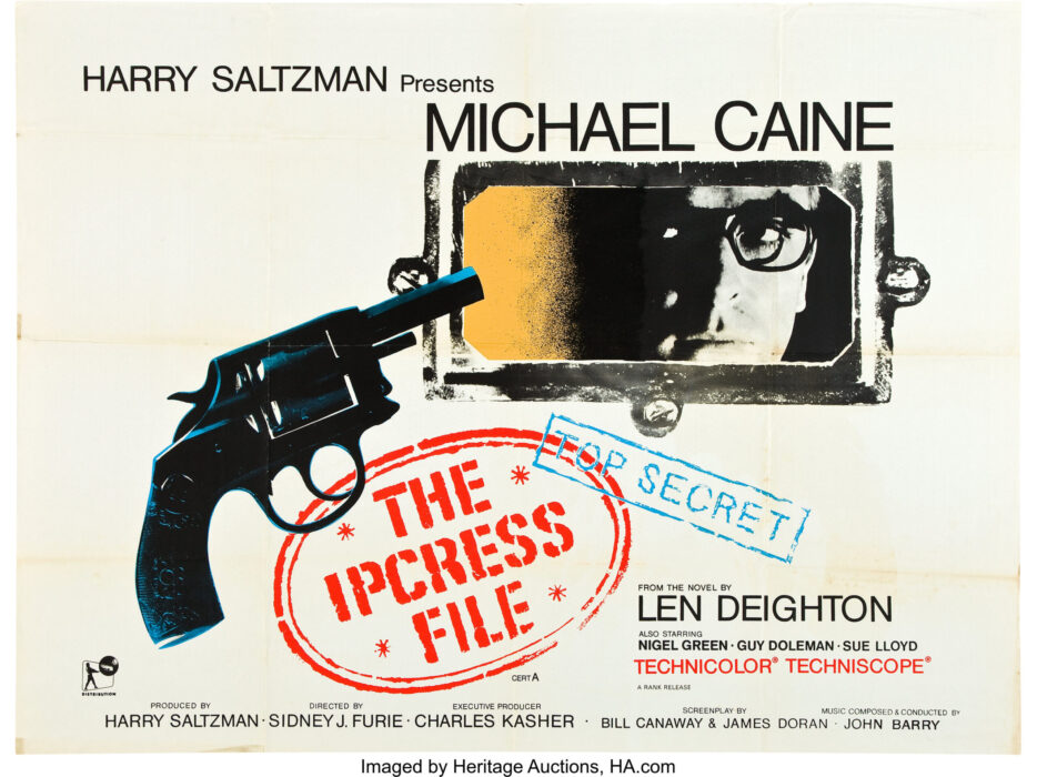 The Ipcress File movie poster featuring Michael Caine.