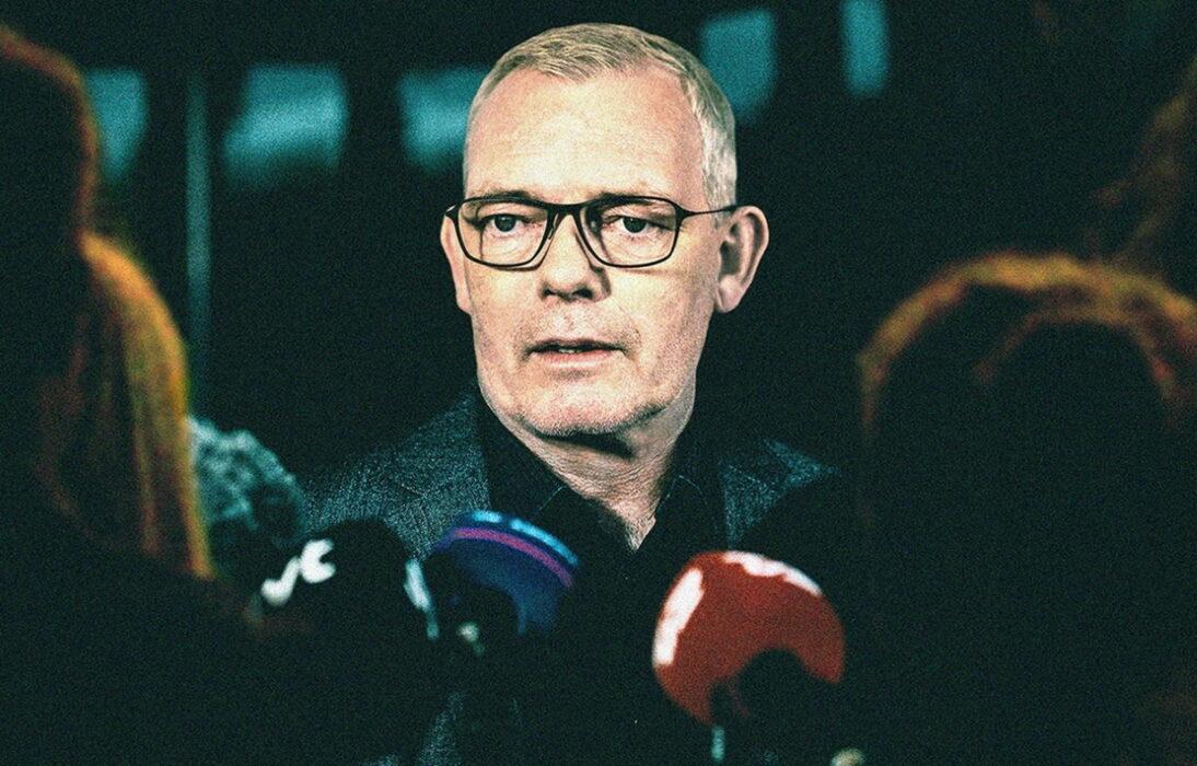 Søren Malling as Inspector Jens Møller in The Investigation