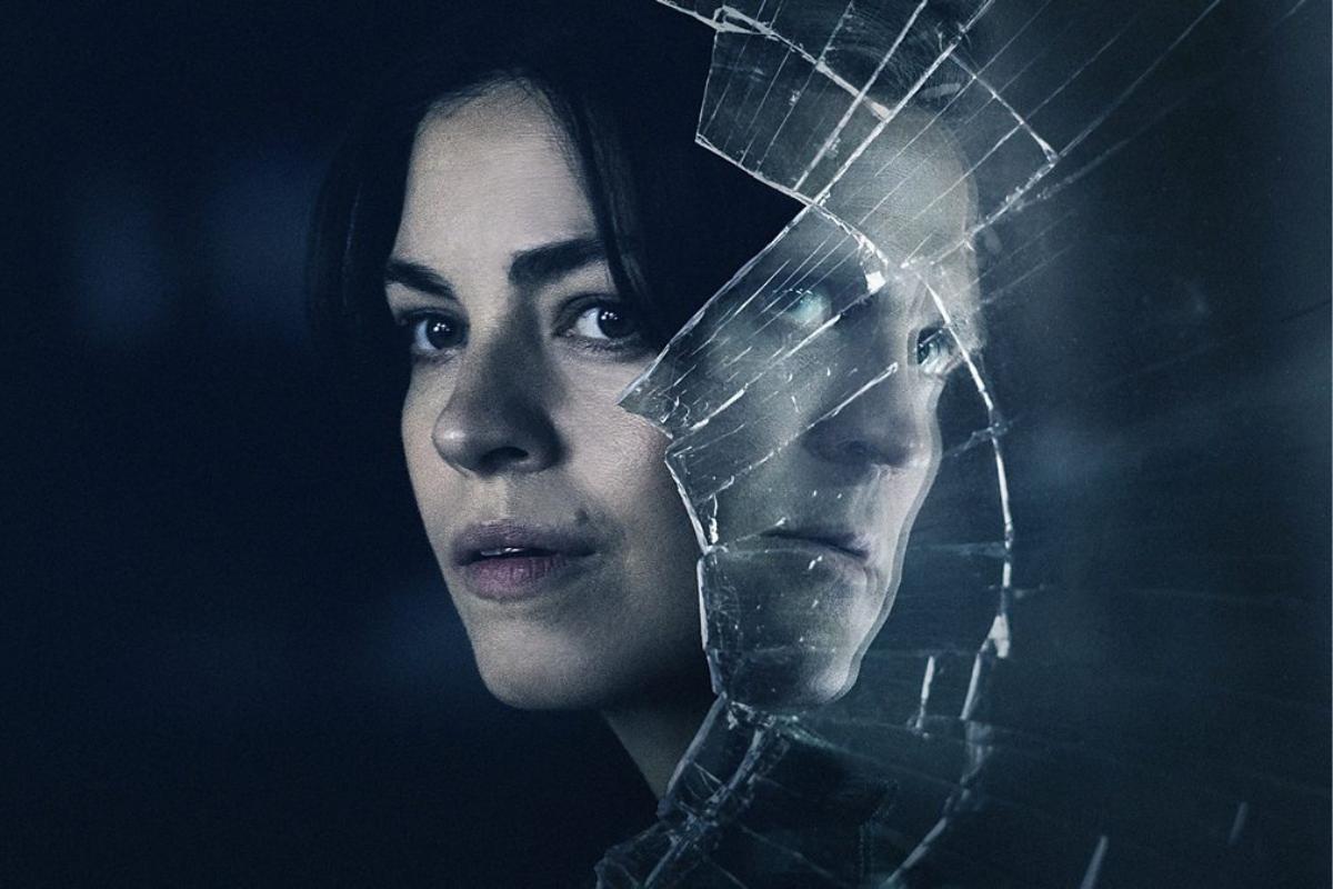Blinded: Those Who Kill Promo shot with Natalie Madueño as Louise Bergstrom and Tobias Santelmann as Peter Vinge