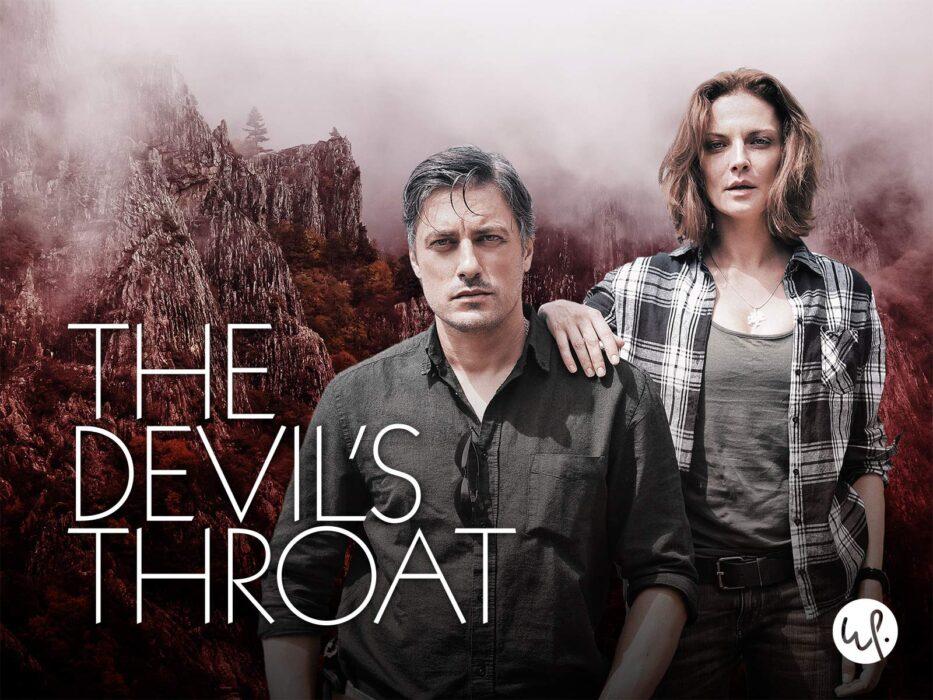 The Devil's Throat English Language Promotional Pic with Teodora Duhovnikova as Mia Yakova and Vladimir Karamazov as Commissioner Filip Chanov