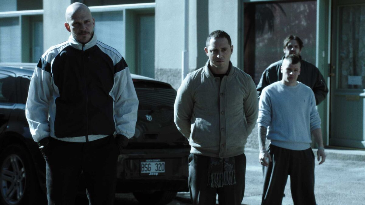 The Fat and the Angry frame with Gustav Skarsgård as Karl, and Matias Varela as Nicola