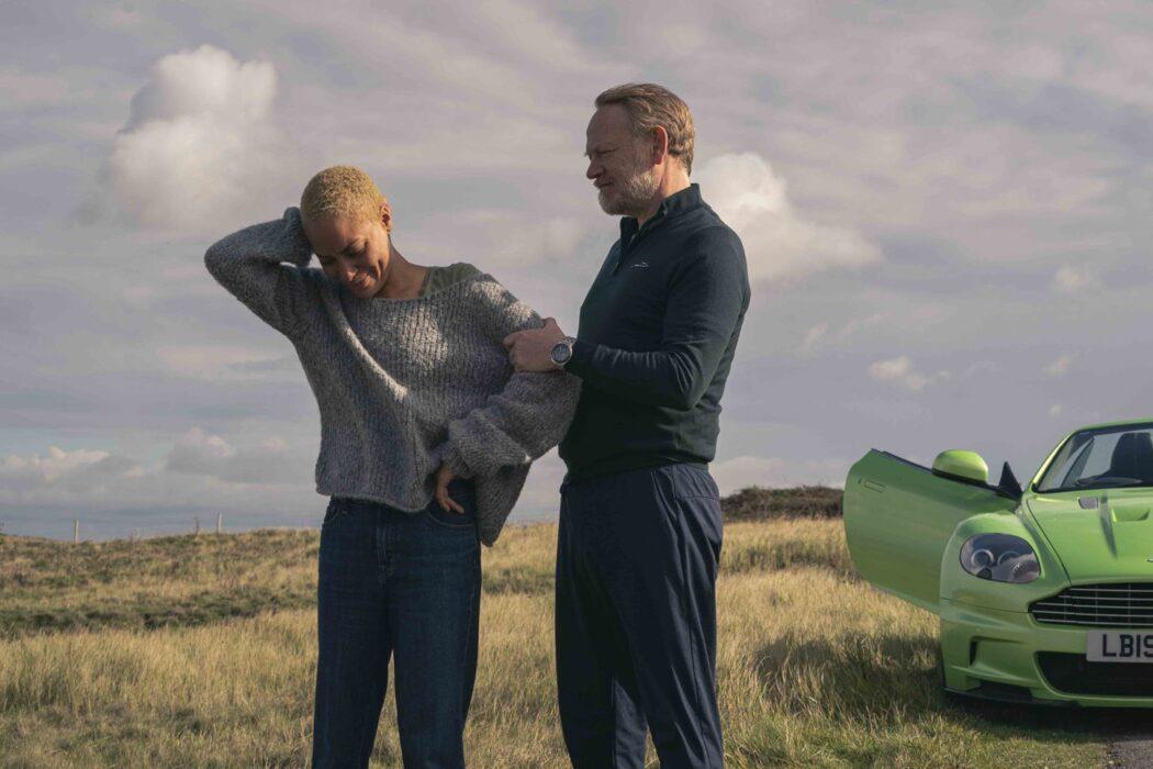 Cush Jumbo and Jared Harris in The Beast Must Die
