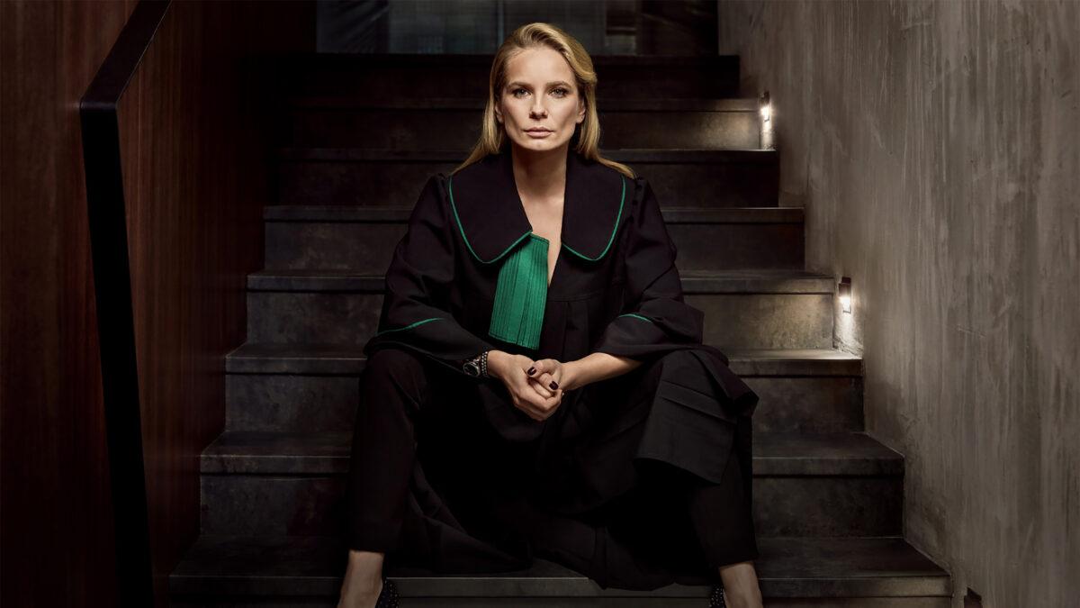 The Defence promo shot of Magdelena Cielecka as lawyer Joanna Chylka